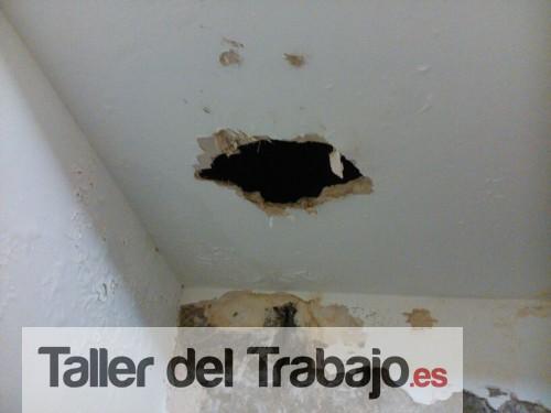 Presupuesto reparar paredes y techo con humedades debido a - Tapar agujero techo ...