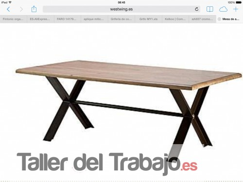 Presupuesto mesa madera y patas de hierro en sant cugat del valles - Mesas madera y hierro ...