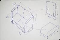 Presupuesto tapizar sofá de 2 plazas pequeño (110 cm de ancho)
